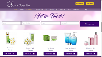 Website Demo Cart Screenshot